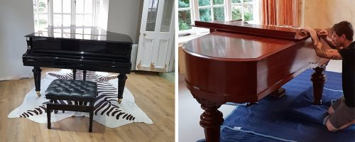 piano transportation in Leicester