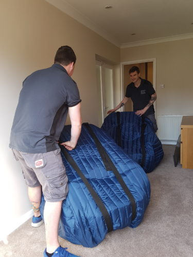 Packing armchairs